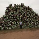 インドバイヤーが買い付けたチーク原木