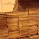 柾目が多いチークフローリングの材料