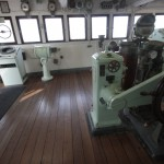 氷川丸操舵室のチーク床材