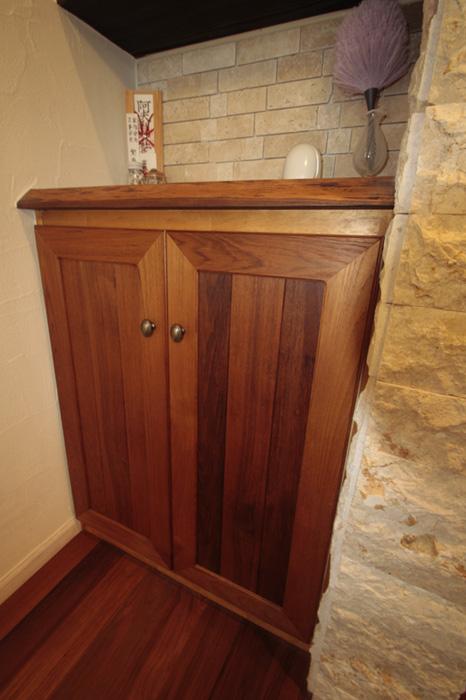 チーク建具の扉