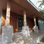 チーク材の外壁